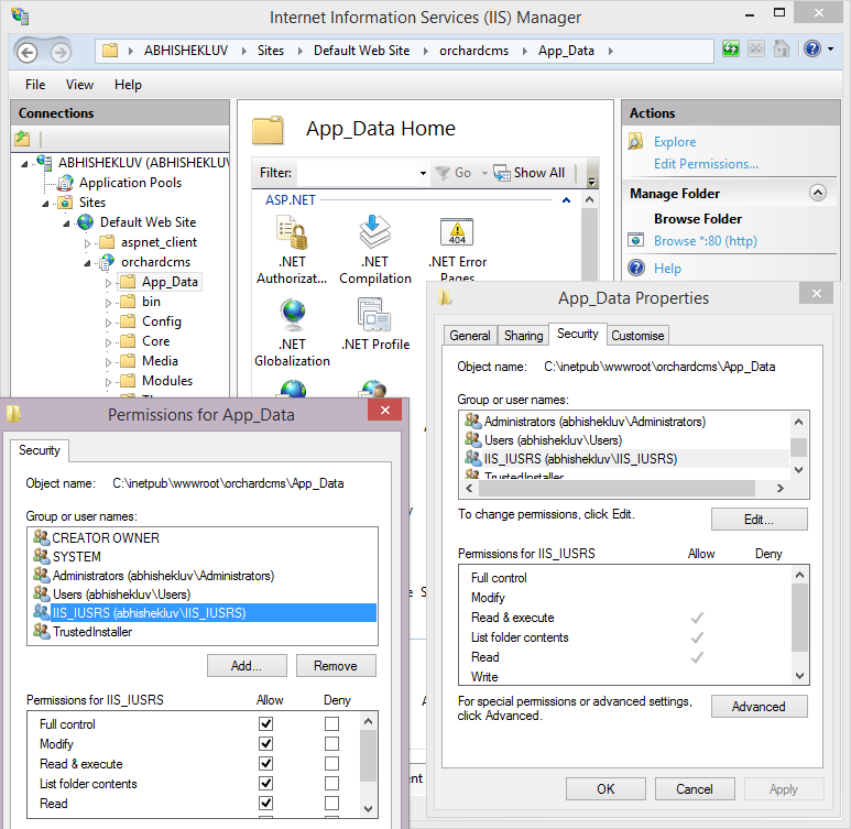 Installing Orchard CMS using IIS and SQL Server : Orchard
